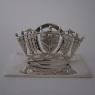 Antique George V Sterling silver menu/place card holder