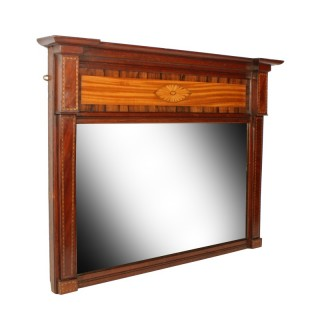 Edwardian Inlaid Overmantel Mirror
