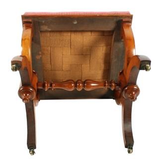 Victorian Walnut 'X' Frame Stool