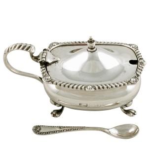 George V Silver Mustard Pot