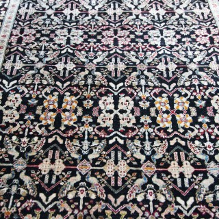 Antique Silk Lahore rug