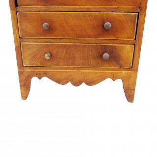 Georgian Mahogany 18th Century Miniature Chest Of Drawers