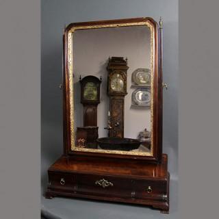 George II Mahogany toilet mirror, John Franklin London
