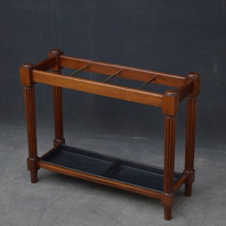 Turn of the Century Mahogany Umbrella Stand