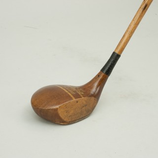 Hickory Shafted Golf Club, Driver By Frank Bryan Ltd, London & Cape Town