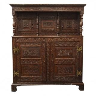 Charles II Carved Oak Cupboard
