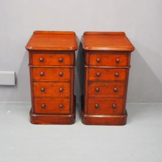 Pair of Victorian Mahogany Lockers or Chests