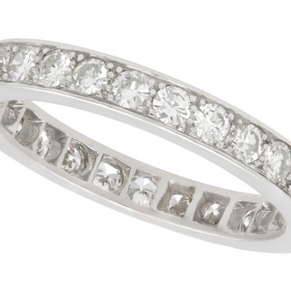 1.24ct Diamond and Platinum Full Eternity Ring - Antique Circa 1930