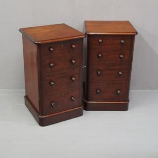 Pair of Victorian Mahogany Cabinets