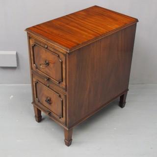 Mahogany 2 Drawer Filing Cabinet