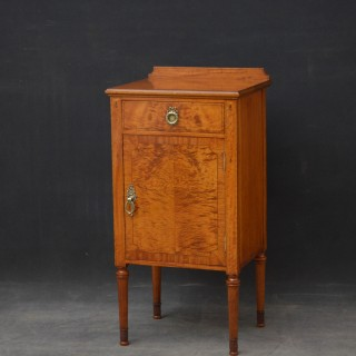 Maple & Co Satinwood Bedside Cabinet