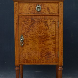 Maple & Co Satinwood Bedside Cabinet