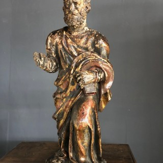 Very good carved figure of a saint c1580