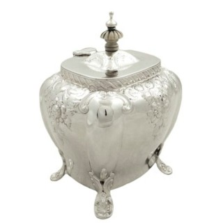 Antique Victorian Sterling Silver Caddy 1896