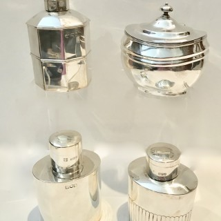 Antique Silver Tea Caddies