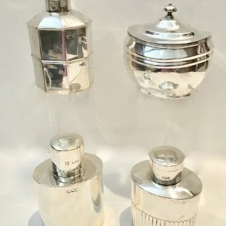 Antique Silver Tea Caddies