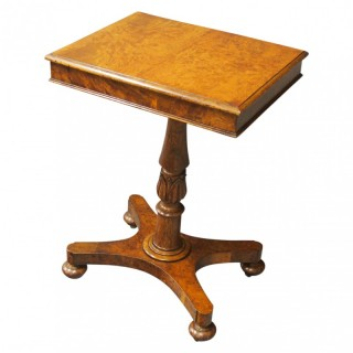 William IV Oak and Pollard Oak Occasional Table