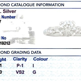 1.21ct Diamond and Platinum Dress Ring - Vintage Circa 1970