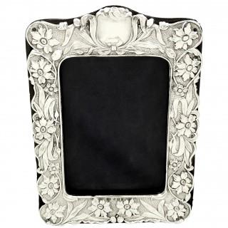 Antique Art Nouveau Sterling Silver Photo Frame 1902
