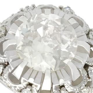 4.31ct Diamond and Platinum Cluster Ring - Antique Circa 1930