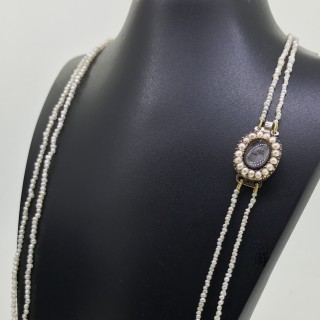 Georgian Seed Pearl Necklace