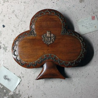 An Unusual Mahogany & Brass Sewing Box Formed as a Clover c.1830
