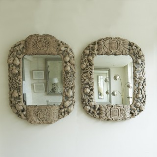 Pair of 19th Century French Carved Mirrors