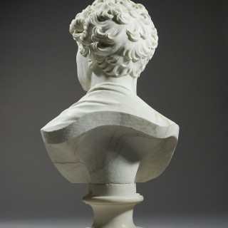 An Impressive Marble Portrait Bust of King George IV