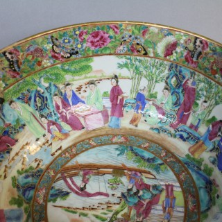 A mid 19th century Chinese Cantonese punch bowl