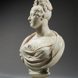 A Fine Neoclassical Portrait bust of Queen Caroline