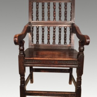 A James II elm  tavern chair.
