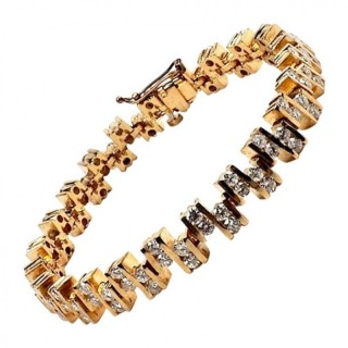 Gold and Diamond Eternity Bracelet 5.5 Carat