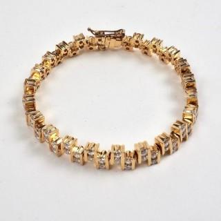 Gold and Diamond Eternity Bracelet 5.5 Carat