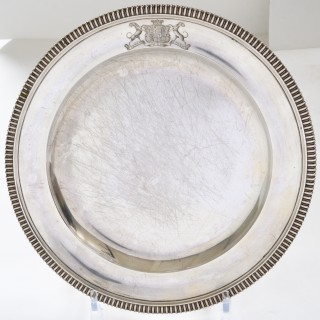 Set of 12 silver dinner plates by Paul Storr