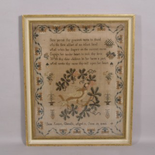 Antique 19th Century Needlework Worked by Jane Keates