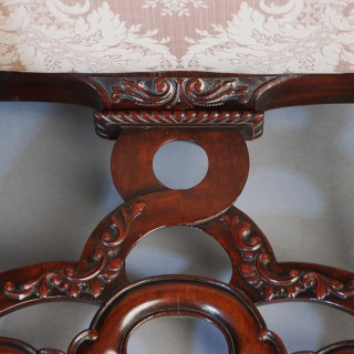Superb quality late 19th/early 20thc mahogany open armchair