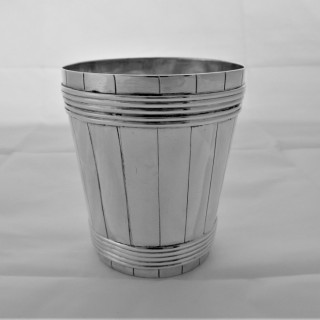 Very rare Provincial George III silver barrel beaker Chester 1784  George Walker