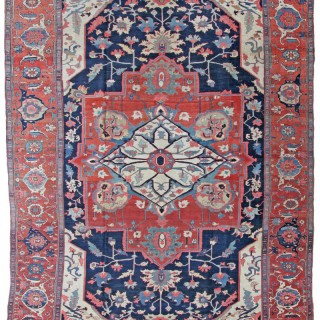 Antique Serapi Carpet
