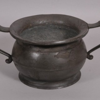 Antique Pewter Chamber Pot of the Georgian Period