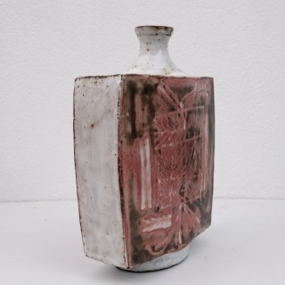 Large mid century slab built vase by Jean Derval
