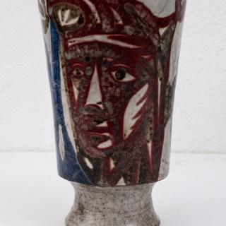 Hand thrown stoneware vase by Jean Derval