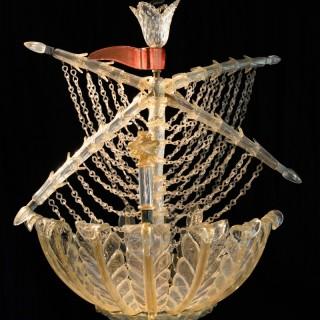 Murano galleon light by Seguso for Veronese