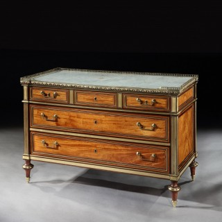 Louis XVI Gilt Bronze-Mounted Bois Citronnier and Amaranth Commode Claude-Charles Saunier