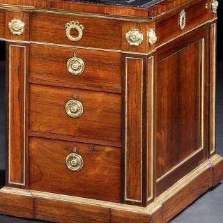 A Fine Pair of Pedestal Desks in the Regency Manner