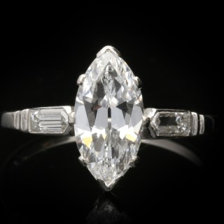 Art Deco solitaire diamond ring, circa 1925.