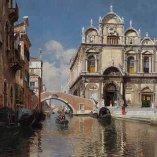 Rubens Santoro - Scuola Grande di San Marco and the Ponte Cavallo on the Rio dei Mendicanti, Venice