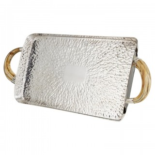 Large Early 20th Century Hammered Silver Plated Tray Hukin and Heath, circa 1910