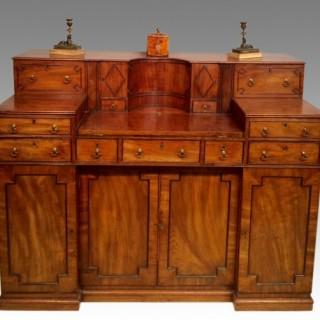 Georgian mahogany writing desk.