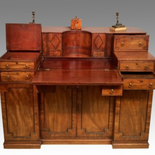 Georgian mahogany writing desk.