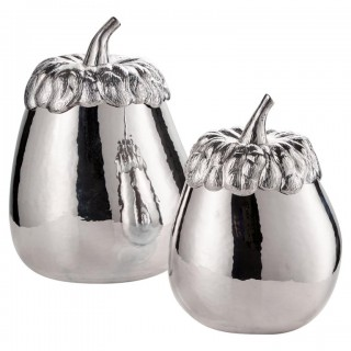 Mid-20th Century Italian Silver Aubergine Form Ice Buckets Circa 1960 In Stock